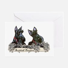 Lilac Scottish Terriers Greeting Card