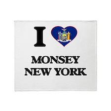 I love Monsey New York Throw Blanket