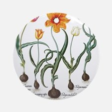 Vintage Tulips by Basilius Besler Ornament (Round)
