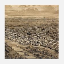 Vintage Pictorial Map of Salem Oregon Tile Coaster