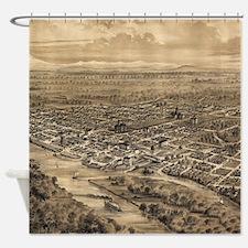 Vintage Pictorial Map of Salem Oreg Shower Curtain
