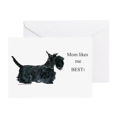 Mom's Favorite Scottie Greeting Card