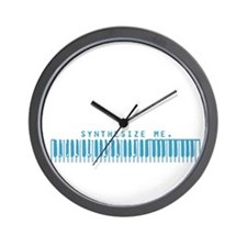 Synthesize Me (Blue) Wall Clock