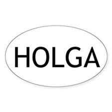 Holga Euro Oval Decal