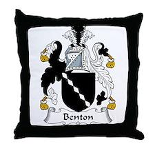 Benton Family Crest Throw Pillow