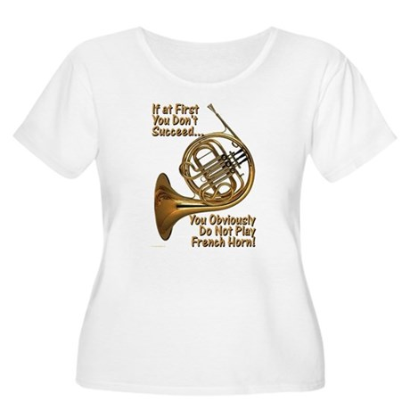 French Horn Perfection Women's Plus Size Scoop Nec