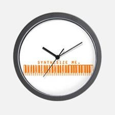 Synthesize Me (Orange) Wall Clock