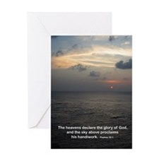 Psalms 19:1 Greeting Card