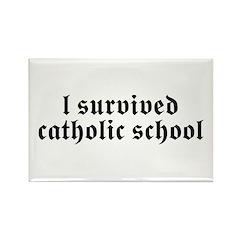I Survived Catholic School Rectangle Magnet