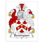 Benington Family Crest Small Poster