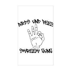 Street Gang Rectangle Decal