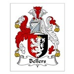 Bellers Family Crest Small Poster