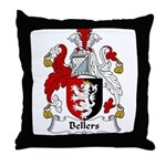 Bellers Family Crest Throw Pillow