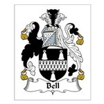 Bell Family Crest   Small Poster