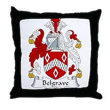 Belgrave Family Crest Throw Pillow