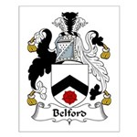 Belford Family Crest Small Poster