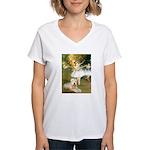 Dancer1/Wheaten T Women's V-Neck T-Shirt