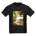 Dancer1/Wheaten T Kids Dark T-Shirt