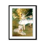 Dancer1/Wheaten T Framed Panel Print