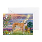 Cloud Angel & Greyound Greeting Cards (Pk of 20)