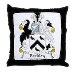 Beckley Family Crest Throw Pillow