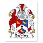 Beckford Family Crest  Small Poster