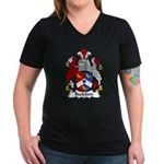 Beckford Family Crest  Women's V-Neck Dark T-Shirt