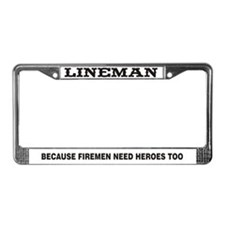 Lineman License Plate Frame