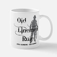 Old Linemen Rule Mug