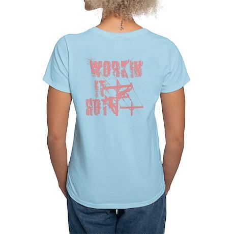 Lineman Workin It Hot Women's Light T-Shirt