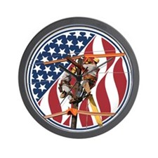 USA Lineman Wall Clock