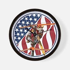 USA Lineman Wall Clock