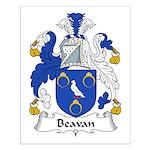 Beavan Family Crest Small Poster