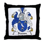 Beavan Family Crest Throw Pillow