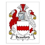 Beauford Family Crest  Small Poster