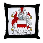 Beauford Family Crest  Throw Pillow
