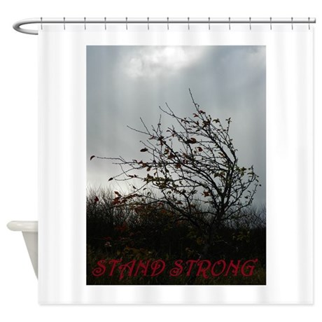 stand strong shower curtain by galleryofhope