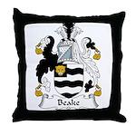 Beake Family Crest Throw Pillow