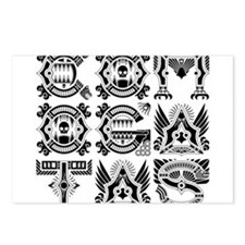 CG Logo Native Black Postcards (Package of 8)