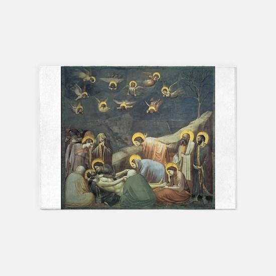 Lamentation of Christ 5'x7'Area Rug