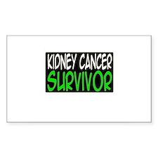 'Kidney Cancer Survivor' Rectangle Decal