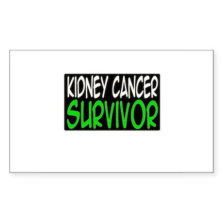 'Kidney Cancer Survivor' Rectangle Sticker