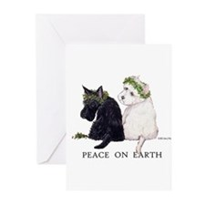 Scottish Terrier Westie Christmas Greeting Cards (
