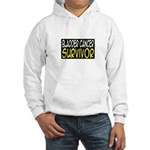 'Bladder Cancer Survivor' Hooded Sweatshirt