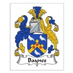 Baynes Family Crest Small Poster
