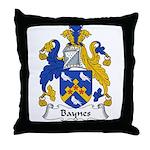 Baynes Family Crest Throw Pillow
