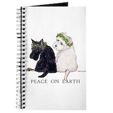 Scottish Terrier Westie Christmas Journal