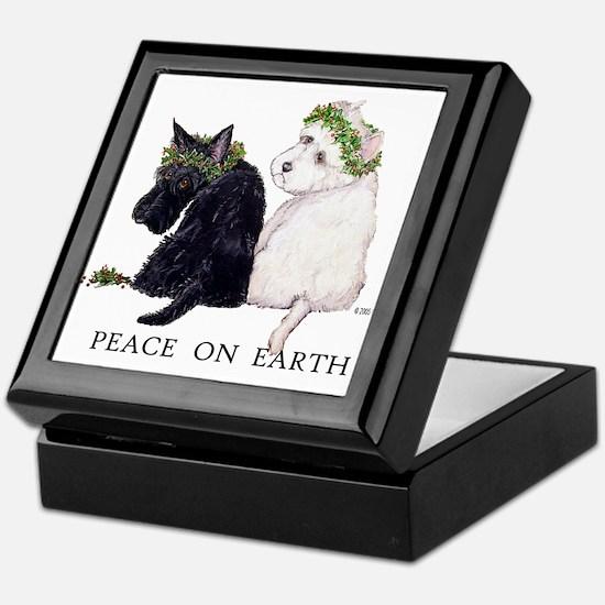 Scottish Terrier Westie Christmas Keepsake Box