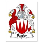 Bayler Family Crest  Small Poster