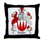 Bayler Family Crest  Throw Pillow